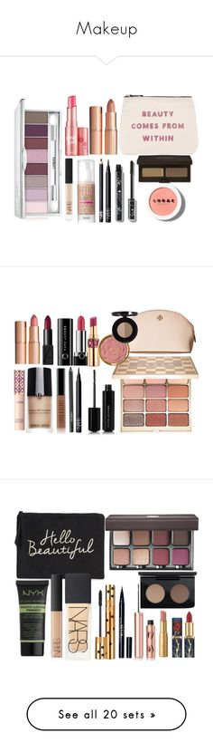 """""""Makeup"""" by fangsandfashion ❤ liked on Polyvore featuring beauty, ALPHABET BAGS, Clinique, LORAC, Laura Mercier, NARS Cosmetics, Benefit, Charlotte Tilbury, Marc Jacobs and Gosh"""