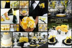 YELLOW BLACK & GREY wedding inspiration by Rock your Locks  http://www.facebook.com/pages/Rock-your-Locks/133025596754055?fref=ts