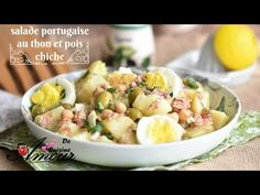 salade portugaise au thon et pois chiche Bonjour tout le monde, Vous aimez les salades de pomm...