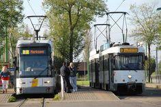 Belgians 7271 and 7112 + 7154 at Antwerp-Zwijndrecht (BE), transport company De Lijn - by Luc Roovers - november 2014