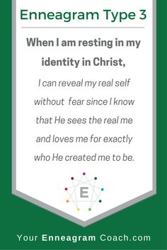 Today, rest in your identity in Christ. Want to be coached by and Enneagram coach with a biblical perspective? Contact Beth McCord today to walk you through her Discover, Explore, and Become series. Enneagram Type One, Enneagram Test, Infp, Introvert, My Identity In Christ, Infj Type, Thing 1, E Type, Mbti