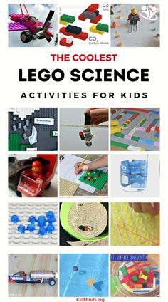 100 new ways to use the LEGO bricks you already have in your home and have fun practicing math, science, engineering, art, and technology with your children. Science Activities For Kids, Steam Activities, Science Experiments Kids, Educational Activities, Space Activities, Children Activities, Science Fun, Creative Activities, Lego Math
