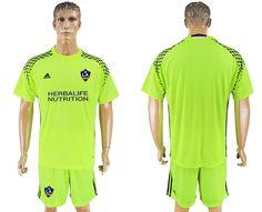 b72992466 17-18 Los Angeles Galaxy goalie soccer jersey Fluorescent Green Football  Kits
