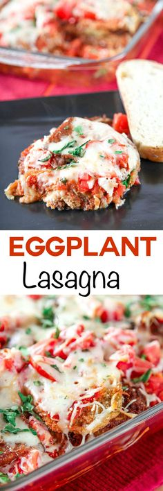 Cheesy Eggplant Lasagna: Crispy eggplant layered with creamy cheese and a flavorful sauce. Italian comfort food at its best!