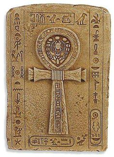 "The ankh or ankh is the Egyptian hieroglyph representing the NH ˁ word, which means ""life."" It is an attribute of the Egyptian gods that can keep the loop, or wear one in each hand, arms crossed over the chest. This symbol was called crux ansata Latin (""ankh"")...........SOURCE BING IMAGES.........."