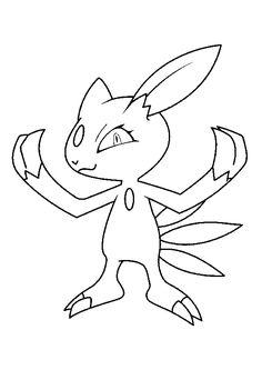 A colorier, le fameux Pokémon des ténèbres et de glace Sneasel