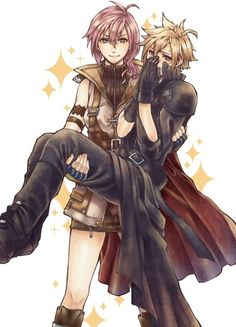 Lightning & Cloud (Final Fantasy VII & XIII) lol! I love these two. They are such awesome characters.