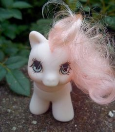"""I need to check and see if I still have this pony. It was my favorite! Love how they call it """"vintage"""" on the site: Vintage 80s Hasbro MY LITTLE PONY Teeny Tiny pony"""