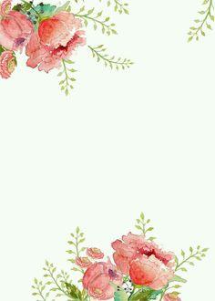 "Képtalálat a következőre: ""elegant watercolor flower background"" Easter Printables, Free Printables, Floral Printables, Borders For Paper, Illustration, Floral Border, Watercolor Flowers, Watercolor Background, Pink Floral Background"