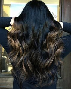 Black Hair Ombre, Ombre Hair Color, Brown Hair Colors, Cabelo Ombre Hair, Balayage Hair, Natural Hair Styles, Short Hair Styles, Chocolate Brown Hair Color, American Hairstyles