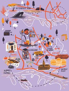 Daniel Gray - Map of Hamburg for Computer Arts Magazine