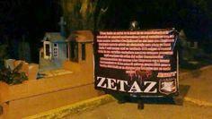 """Narcomanta de Los Zetas en Coatzacoalcos: """"Los CJNG van a mamar"""" - http://www.esnoticiaveracruz.com/narcomanta-de-los-zetas-en-coatzacoalcos-los-cjng-van-a-mamar/"""