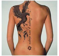 Phoenix Tattoo Sleeve, Phoenix Tattoo Feminine, Phoenix Back Tattoo, Phoenix Bird Tattoos, Phoenix Tattoo Design, Feminine Tattoos, Rising Phoenix Tattoo, Feminine Tattoo Sleeves, Spine Tattoos