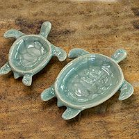 Aqua Thai Turtles from @NOVICA, They help #artisans succeed worldwide.