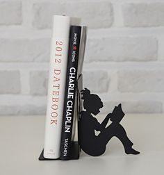 Mini Girl Reading a Book Bookend