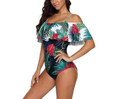 a80785b48 New Arrival One Piece Plus Size Floral Print Woman Swimwear Ruffle  Decoration  NewArrivalChina  OnePiece
