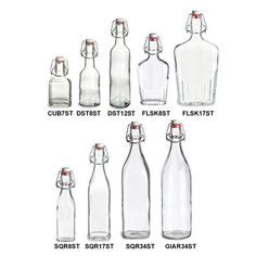 Specialty Bottle - Swingtop Glass Bottles for homemade vanilla extract, and limoncello.