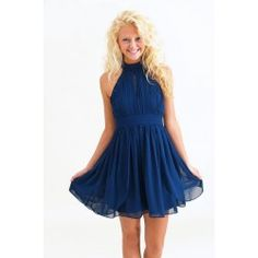 Tea & Crumpets Dress-Navy