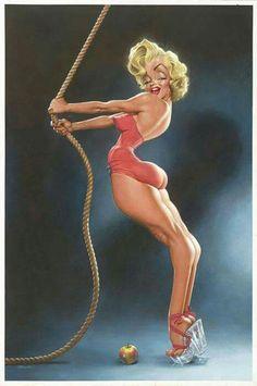 Marilyn Monroe by Sebastian Krüger (Germany) - Pin Up - Caricature Cartoon Faces, Funny Faces, Cartoon Art, Caricature Artist, Caricature Drawing, Funny Caricatures, Celebrity Caricatures, Sebastian Kruger, Marilyn Monroe Artwork