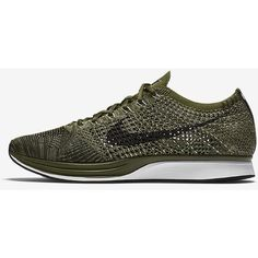 Nike Flyknit Racer Unisex Running Shoe. Nike.com ❤ liked on Polyvore featuring shoes, athletic shoes, nike footwear, unisex shoes, athletic running shoes, flyknit shoes and nike