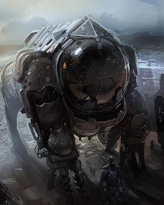 Sci-fi Art: Glog Guard - 2D Digital, Concept art, Sci-fiCoolvibe – Digital Art
