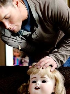 """Supernatural   Season 2 - Episode 11 - Playthings - Dean: """"Dude, this is sweet. We never get to work jobs like this."""" Sam: """"Like what?"""" Dean: """"Old school haunted houses, you know? Fog, secret passageways, sissy British accents. Might even run into Fred and Daphne while we're inside. Mm, Daphne. Love her."""""""