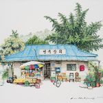 Two Decades of South Korean Corner Store Illustrations by Me Kyeoung Lee