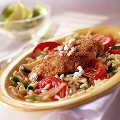 Grecian-Style Chicken - the recipe calls for couscous, but the picture shows orzo - either works