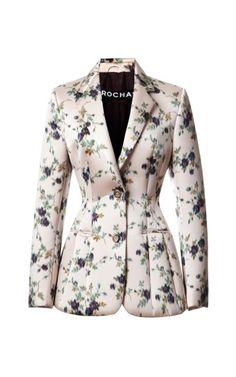 Rochas Floral Blazer Now Available on Moda Operandi