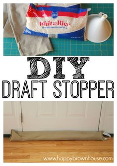 DIY Door Draft Stopper or Draft Snake to keep the chilly air from sneaking in the door cracks and helping your home heating bill. Easy sewing idea for your house.