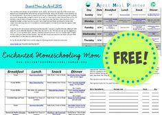Free April 2015 Monthly Menu Planner + 75 Weeks of Menu Plans