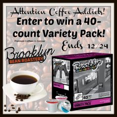 Low entry #giveaway! Enter to #win a 40-count Assorted Variety Pack of coffee from Brooklyn Beans Roastery - contains an assortment of Dark Roast, Medium Roast, Light Roast, Extra Bold and Flavored coffees! Ends December 24 (10:00pm EST). #BBRReview