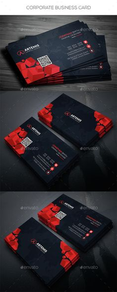 Business card design suitable for companies or personal use. Download here: http://graphicriver.net/item/corporate-business-card/14559007