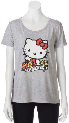 Juniors' Hello Kitty High-Low Graphic Tee