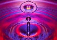 A macro fotografia de gotas de água de Ryan Przybylski