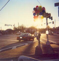 Balloon Kid #polaroid #sunset