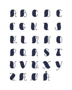 Font design by Rasmus Boesen , via Behance