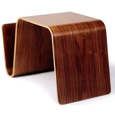 This highly useful design employs a single sheet of bent ply to create an all purpose table with built in storage for reading materials. The understated form is neutral enough to work in a variety of interiors. In addition to its role as a side table, the Mag table makes a terrific small nightstand for platform beds and can be placed in an upright position for use as a laptop stand.