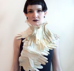 Glove Scarf glove necklace by horseflesh on Etsy