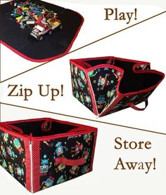 Playmat converts to Storage Tote by cozyne... | Sewing Ideas