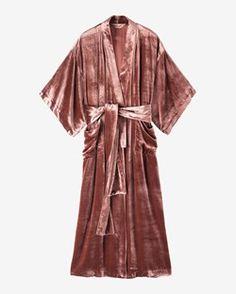 Women's Silk Velvet Kimono Gown | TOAST