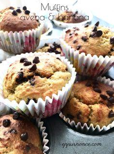 Muffins avena e banana senza glutine | EPPUR NON C'E'