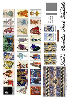 "Free miniature book printie for a 1.5"" book on the theatre designs of Leon Bakst."