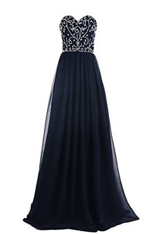 a880230524d Amazon.com  MISSYDRESS Women Beaded Strapless Chiffon Bridesmaid Evening  Party Gown Prom Dress 14  Clothing