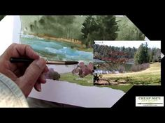 ▶ Don Getz Watercolor Techniques - Artist Journal - The Lake Painting - YouTube