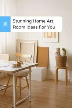 Every artist needs a serene, private space where all their artistic and creative ideas can come to life. Here's how you can create a stunning home art room for you to work in. Diy Projects Cans, Wishbone Chair, Simple House, Unique Home Decor, Home Art, Home Improvement, Living Room, Interior Design, Space