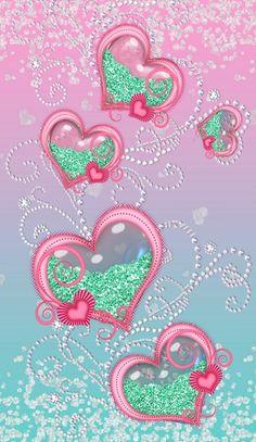 Heart Iphone Wallpaper, Bling Wallpaper, Phone Screen Wallpaper, Love Wallpaper, Cellphone Wallpaper, Galaxy Wallpaper, Pattern Wallpaper, Wallpaper Backgrounds, Love Heart Images
