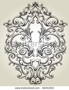 stock vector : Fleur de Lis Frame use vector's  and plaster to make unique ornamental details for walls and cupboards