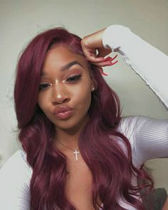 Black Wigs Lace Frontal 100 Human Hair Black And Orange Hair Afro Hair Extensions Teal Wig Black Men Dyed Hair Pelo Color Vino, Afro Hair Extensions, Natural Hair Styles, Short Hair Styles, Meagan Good, Beautiful Hair Color, Baddie Hairstyles, Hairstyles Videos, Hair And Beauty