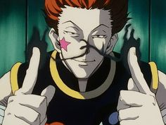 Hisoka. No matter how many bad things he does... I can't seem to hate him.